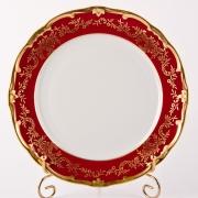 Набор тарелок 24 см. 6 шт «Ювел красный»