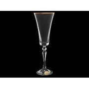 Бокал для шампанского ALEX Золотая отводка