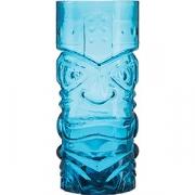 Стакан для коктейлей «Тики» сине-зеленый стекло; 465мл