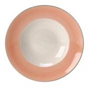 Тарелка для пасты «Рио Пинк», фарфор, D=27см, белый,розов.