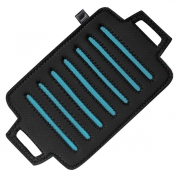 Прихватка-подставка под горячее прямоугольная с синими вставками