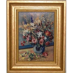 Картина «Полевые цветы» 16,5х21 см, фарфор, серия Renoir. Подарочная упаковка