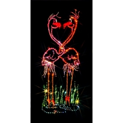 Влюбленные фламинго, 20х30 см, 915 кристаллов