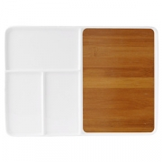 Блюдо для стейка/сыра, бамбук,фарфор