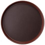 Поднос круг.прорез. d=35.6см коричневый