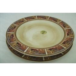 Набор тарелок: суповая и обеденная «Гармония»  Суповая - 23,5 см, обеденная - 25 см