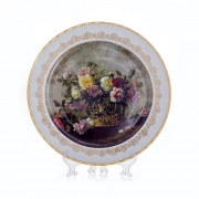 Настенная тарелка 32 см «Цветы 3»