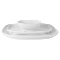 Набор Форма белый: 2 тарелки + салатник в подар.упаковке