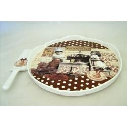 Блюдо для торта с лопаткой «Любители шоколада» 31,5 см