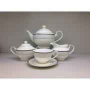 Сервиз чайный «Кружевница» 17 предметов на 6 персон