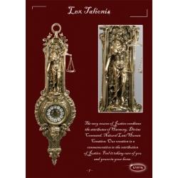 Часы «Правосудие» настенные золото 72х21 см .