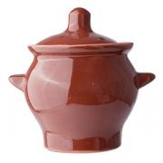 Горшок для запекания, керамика, 650мл, D=11,H=14.5см, тем.корич.