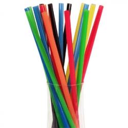 Трубочки цветные 25см 100шт. без изгиб.