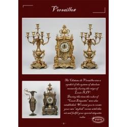 Пара канделябров «Версаль» на 5 свечей золото 45х27 см.
