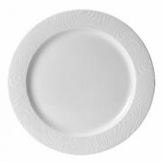Тарелка мелкая «Оптик», фарфор, D=23см, белый