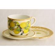 Чашка на маленьком подносе «Итальянские лимоны»