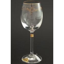Рюмка для вина 150 мл «Глория» панто+втертое золото + золотая кайма по краю рюмки и декорация золотом деталей на ножке