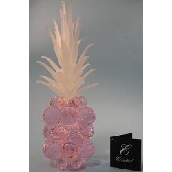 Ананас маленький розовый, матовый лист d 30 9х26 см