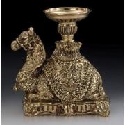 Пара подсвечников «верблюд«на 1св. цвет - золото 30х15см