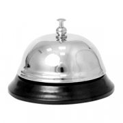 Звонок    металл хромир.; D=8.4,H=6см; серебрист.