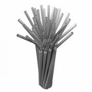 Трубочки «Фло» [250шт], D=5,L=210мм, серебрян.