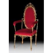 Стул с высокой спинкой цвет - золото 120х55 см