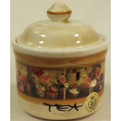 Банка для сыпучих продуктов с керамической крышкой (чай) «Илария» 0,5 л