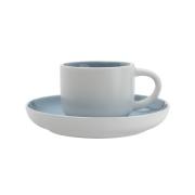 Чашка кофейная с блюдцем Оттенки (голубая) без инд.упаковки.