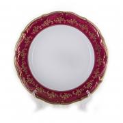 Набор тарелок 25 см. 6 шт. «Барокко Красный»
