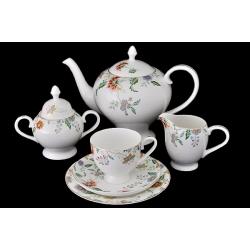 Чайный сервиз «Весенний узор» 21 предмет на 6 персон
