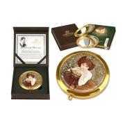 Зеркало карманное Изумруд (А. Муха)