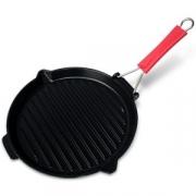 Сковорода гриль чугунная, dia 27 см, цвет черный