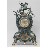 Часы «Всадник и птицы» синий 46х26 см.