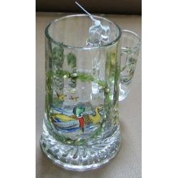 Пивная кружка стеклянная с рюмкой «Утки», 0.5 л