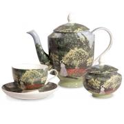 Сервиз чайный, 6 перс, 15 пр, Дама в саду
