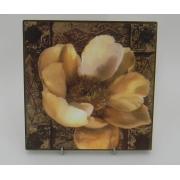 Картина без рамки «Роза Каппучино» 20*20