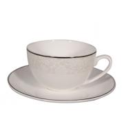 Пара чайная, 2 перс, 4 пр, Жемчужина-платинум