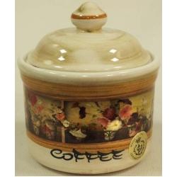 Банка для сыпучих продуктов с деревянной крышкой (кофе) «Илария» 0,5 л