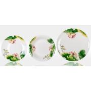Набор тарелок «Нимфея» на 6 персон 18 предметов