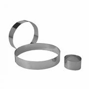 Кольцо кондитерское, сталь нерж., D=80,H=45,B=78мм, металлич.