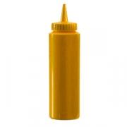 Емкость для соусов, пластик, 350мл, D=55,H=205мм, желт.