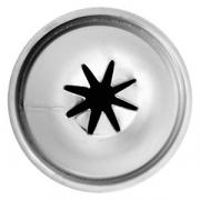 Насадка кондит. «Звезда», сталь нерж., D=22,H=30мм, металлич.