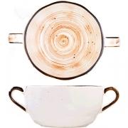 Бульон. чашка с ручк. «Пастораль» D=14.7, H=5.3см; оранжев.