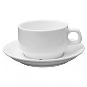 Пара чайная «Кунстверк», фарфор, 200мл, D=8,H=8,B=15см, белый