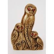 Трио «совы» цвет - золото модерн