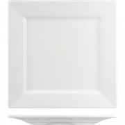 Тарелка квадратная «Кунстверк» H=1.9, L=21.2, B=21.2см; белый