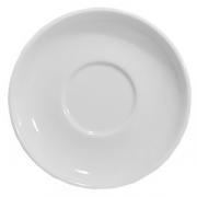 Блюдце, фарфор, D=14см, белый