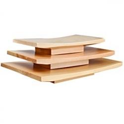 Блюдо для суши дерево; H=35,L=210,B=120мм; св. дерево