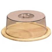 Поднос для сыра дерев.с пласт.крышк.d=23см