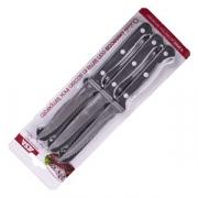 Набор ножей для стейка [6шт] L=21.5/10.7, B=1.9см; черный, металлич.